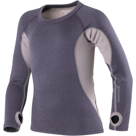 Houdini Alpha Crew Shirt Kids greystone purple